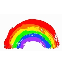 Painted Rainbow vector image
