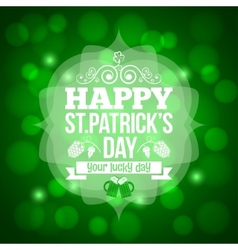 Patrick day beer mug background vector
