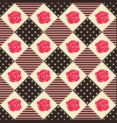 pattern rose geometry vector image vector image