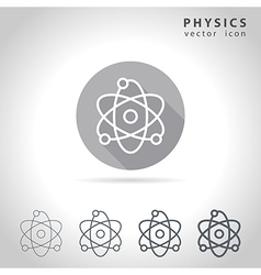 Physics outline icon vector