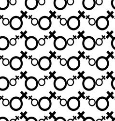Seamless Female Symbol Pattern Background vector image vector image