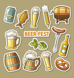 Set of different colored beer icons vector