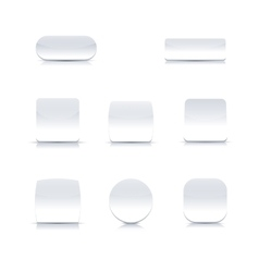 Set of white buttons vector image vector image