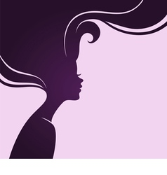 silhouette hair vector image vector image