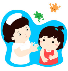 Vaccination child cartoon vector