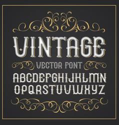 vintage label font retro font vector image vector image