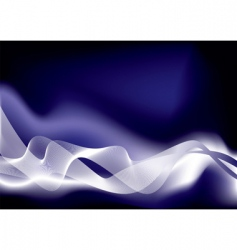 virtual wave space blue vector image vector image