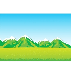 Year field and mountains vector image vector image