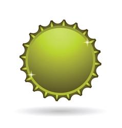 Yellow cap icon vector