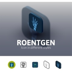 Roentgen icon in different style vector