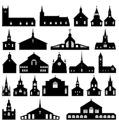Church silhouettes vector image