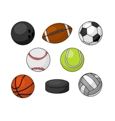 Sport balls isolated icons vector