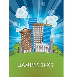 City poster background vector