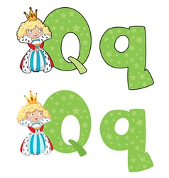 letter Q queen vector image