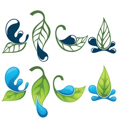 Green leaves images and silhouettes vector