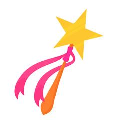 Magic wand toy icon cartoon style vector