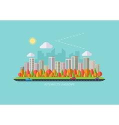 Autumn urban landscape vector