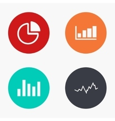Modern graph colorful icons set vector