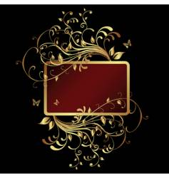Golden frame banner vector