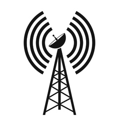 Wireless connection black simple icon vector