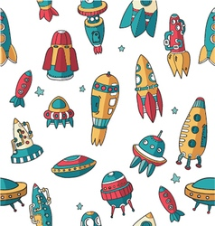 Pattern spaceships pattern shuttles space plates vector