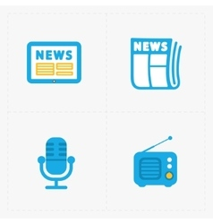 Media Icons set on white background vector image