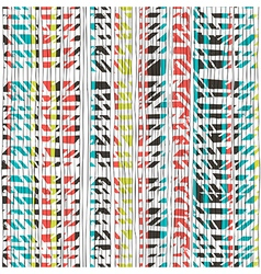 Abstract retro colors stripes pattern seamless vector