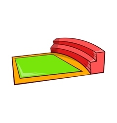 Small square stadium icon cartoon style vector