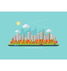 Autumn urban landscape vector