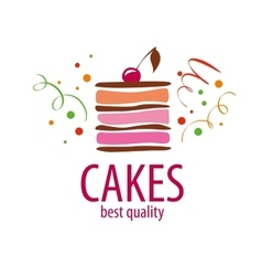 Cake logo vector
