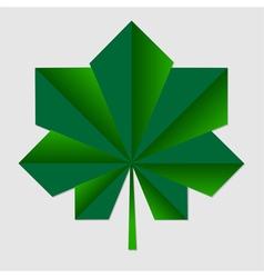Chestnut origami green leaf vector