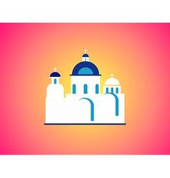 Church in greece vector