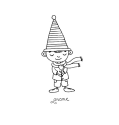Cute little gnomes vector image vector image