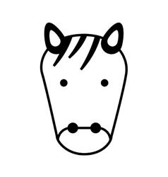 Cute zebra character icon vector