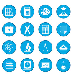 Education icon blue vector