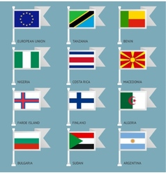 Flags set four-03 vector