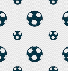 Football icon sign Seamless pattern with geometric vector image vector image