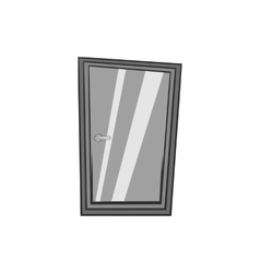 Glass interior door icon black monochrome style vector