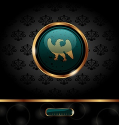 golden packing with heraldic eagle - vector image vector image