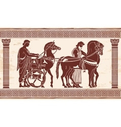 Greek drawing vector image vector image