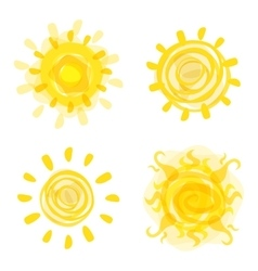 Hand drawn sun picture vector