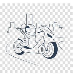 Icon motorcycle black silhouette vector
