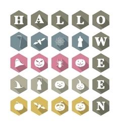 Icons Halloween vector image