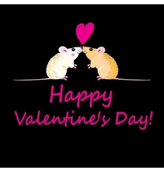Lovers funny mouse vector