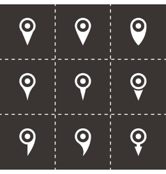 map pointer icon set vector image