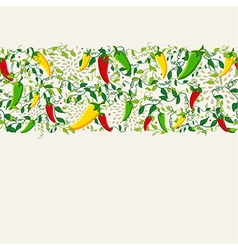 Mexican chili pepper pattern design vector