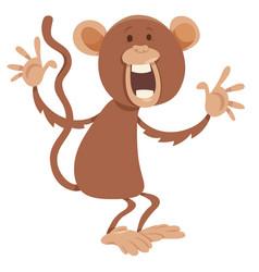 monkey cartoon character vector image vector image