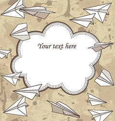 Paper plans border frame vector image vector image