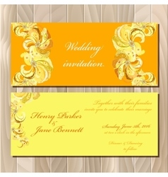Peacock Feathers wedding invitation card vector image