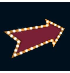 Retro light bulb arrow with space for text vector